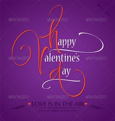'Happy Valentine's Day' Hand Lettering - Valentines Seasons/Holidays #download #stock #StockImages #microstock #royaltyfree #vectors #calligraphy #HandLettering #lettering #design #letterstock #silhouette #decor #printable #printables #craft #diy #card #cards #label #tag #sign #vintage #typography