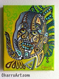 El vuelo de jade by CharruArt                       Acrylic on Canvas 26x20