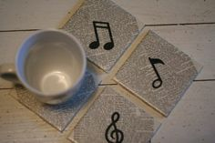 Modge Podge Tile Coasters | Filed under DIY , I made this! , Recycled by Deanna