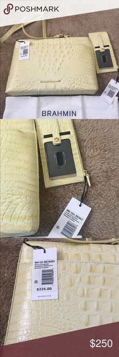 BRAHMIN DANDELION MELBOURNE CROSSBODY & WALLET Brand new unique color sold as set but will sell separate Brahmin Bags Crossbody Bags