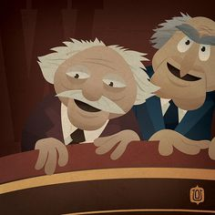 W is for Waldorf and Statler by  David Vordtriede