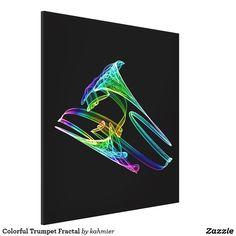 Colorful Trumpet Fractal Canvas Print 50% off