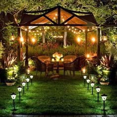 Solar lights are a great way to create a peaceful area in the backyard
