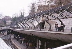 Santiago CALATRAVA // tadelhofen Station Stadelhofen Square Zurich Switzerland Santiago Calatrava 1990