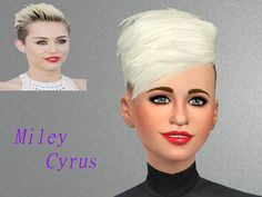 Actress/singer Miley Cyrus, daughter of '90s country star Billy Ray Cyrus  Found in TSR Category 'Sims 4 Young Adult Female Sims'