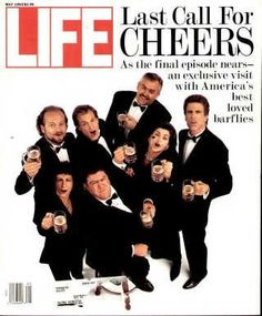 """The Cheers Cast - Last Call - Life Magazine, May 1, 1993 issue - Visit http://oldlifemagazines.com/the-1990s/1993/may-01-1993-life-magazine.html to purchase this issue of Life Magazine. Enter """"pinterest"""" at checkout for a 12% discount. - The Cheers Cast - Last Call"""