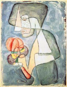 Woman with Tomato, 1930 - Paul Klee (Swizterland, 1879-1940)