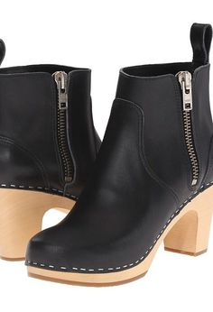 Swedish Hasbeens Zip It Super High (Black) Women's Zip Boots - Swedish Hasbeens, Zip It Super High, 483-001, Footwear Boot Casual Zip, Casual Zip, Boot, Footwear, Shoes, Gift, - Fashion Ideas To Inspire