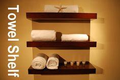 "Wall Floating Shelves 24"" Long Wood Shelf / Set of 3 / Walnut Color FREE SHIPPING"