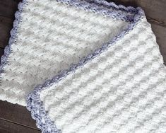 Vintage Chic Free Crochet Baby Blanket Pattern - Leelee Knits