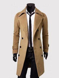 Office Lapel Double Breasted Plain Men Coat SPECIFICATIONS Product Name: Office Lapel Double Breasted Plain Men Coat Sku: D5C4055CF1B8 Embellishment: Double Breasted Occasion: Formal / Office Collar&neckline: Lapel Sleeve: Long Sleeve Material: Blend Pattern Type: Plain Package Included: Top / 1 Season:
