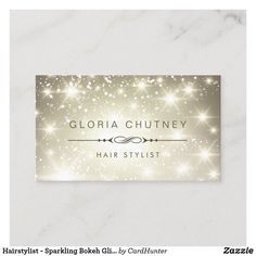 Shop Massage Therapist - Sparkling Bokeh Glitter Business Card created by CardHunter.