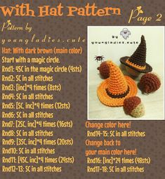 Crochet Pumpkin, Crochet Fall, Holiday Crochet, Crochet Stitches Patterns, Amigurumi Patterns, Beginner Crochet Tutorial, Halloween Crochet Patterns, Tsumtsum, Crochet Quilt