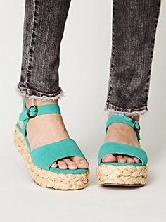 598a77b87b79 spring shoe--love the thick braid around the bottom. Teal Sandals