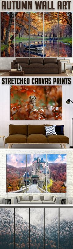 Modern Autumn Wall Art for Home & Office decoration.