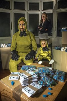 The awesome Mackie family recreates movie and television scenes using #cardboard boxes. Pictured: Breaking Bad