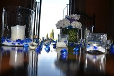 blue and canale table, Tuscany, Villa Castelletti