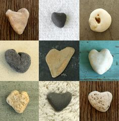 A Beach Tradition, collecting heart stones with the family.