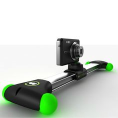 Mobislyder - The world's first portable camera slider designed specifically for a broad range of small video-enabled devices such as iPhones, smart phones, compact cameras and small D-SLR cameras.