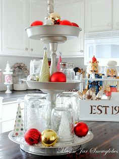 Make Your Own Tiered Tray Tutorial - At The Picket Fence