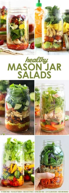Pack your salad in a jar! Check out these Healthy Mason Jar Salad Ideas from your favorite bloggers.