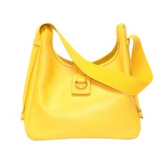 Vintage Hermes Yellow Sako Shoulder Bag   From a collection of rare vintage handbags and purses at http://www.1stdibs.com/fashion/accessories/handbags-purses/