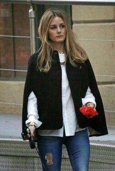 Abrigo capa negro