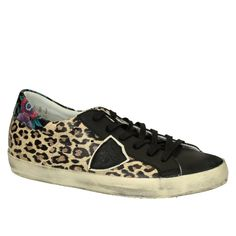 Philippe Model leather leopard women sneakers (CLLD LL04) - Bledoncy