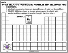 Blank Periodic Table Worksheet Unique Worksheet Blank Periodic Table Challenge B – Chessmuseum Template Library Chemistry Notes, Teaching Chemistry, Science Notes, Periodic Table Printable, Resume Template Free, Templates, Chemistry Periodic Table, Persuasive Writing Prompts, Math Drills
