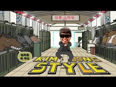 PSY - GANGNAM STYLE (강남스타일) PARODY! KIM JONG STYLE! | Key of Awesome #63  Check the Heroic Realism art in the background.