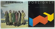 Foreigner Lot of 2 Vinyl Record Albums- Self Titled & Agent Provocateur EX/NM #Vinyl