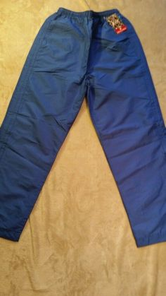 Men's Holloway Water Resistant Lined Pants, Small blue NWT  #Holloway