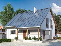 Jednorodzinny budynek mieszkalny, parterowy z użytkowym poddaszem, przeznaczony dla 5 - 6-osobowej rodziny.