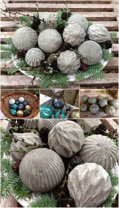 28 Cutest Outdoor Concrete Projects For Your Home!!! Bebe'!!! Great Garden Craft Ideas!!!