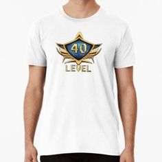 'Badge Level Premium T-Shirt by Andreea Raducan Level 42, Wash Bags, Large Prints, Tshirt Colors, Looks Great, Badge, Fitness Models, Shirt Designs, Tees