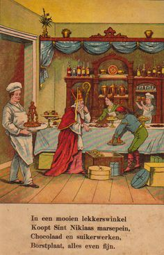 Sint Nicolaas en zijn knecht ca.1900