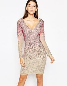 Buy WOW Couture Allover Longsleeved Embellished Diamonte Dress at ASOS. Get the latest trends with ASOS now. Asos Sequin Dress, Embellished Dress, Bodycon Dress, Evening Attire, Muslim Dress, Classy, Formal Dresses, Outfits, Outfit Ideas