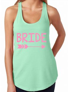 Bride Racerback // Bride Tank // Bachelorette Party Tank // by GraceGritsandGlitter on Etsy