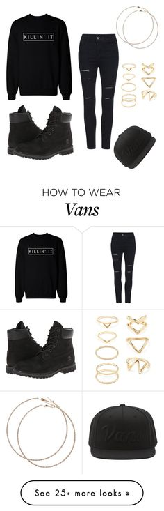 """Badass "" by michelle-ellie-may on Polyvore featuring Timberland, Wet Seal, Vans and Forever 21"