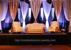 Beautiful and elegant wedding decoration by Noretas Decor Inc.