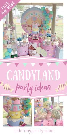 Girls Birthday Party Themes, Birthday Candy, 4th Birthday, Birthday Ideas, Birthday Parties, Plating Techniques, Candy Party, Party Activities, Candyland