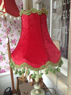 Re working Vintage from Wild Strawberry Picking /Wild Lampshades In our vintage range ~ cherry