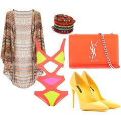 """Beach 1"" by rhythmic-gym on Polyvore"