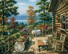 Rustic Porch ~ Sung Kim