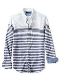 Banana Republic Tailored Slim-Fit Striped Oxford Shirt