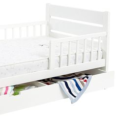 Mothers Choice Toddler Bed With Drawer White Toddler bed
