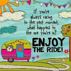 Enjoy the ride! Imán para la nevera, de Natural LIfe.