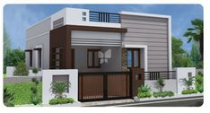 Navaneetha's Kumaran Garden @ Rs 20 Lakhs in Samayapuram, Trichy by Navaneetha Property Developers - Get TruePrice, Brochure, Amenities, Price Trends and Map on RoofandFloor House Front Wall Design, Single Floor House Design, Village House Design, Small House Design, Modern House Design, Bungalow Haus Design, Duplex House Design, Independent House, Front Elevation Designs