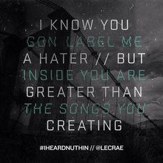 Nuthin // Anomaly // Lecrae to those who make music unworthy of the kingdom