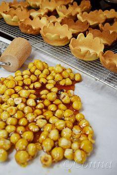 Sabor: Ταρτάκια με πραλίνα φουντουκιού / Tartelettes with hazelnut praline